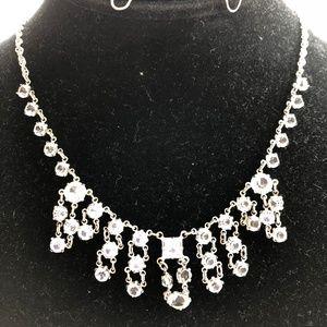 Jewelry - Vintage bezel set crystal open back necklace